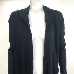 Splendid Medium Open Front Draped Waffle Cardigan